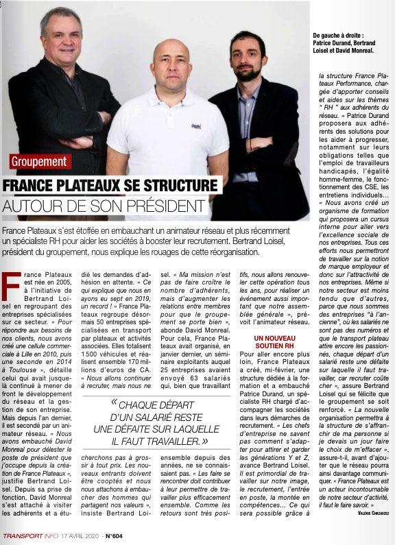 France Plateaux se structure autour de son président